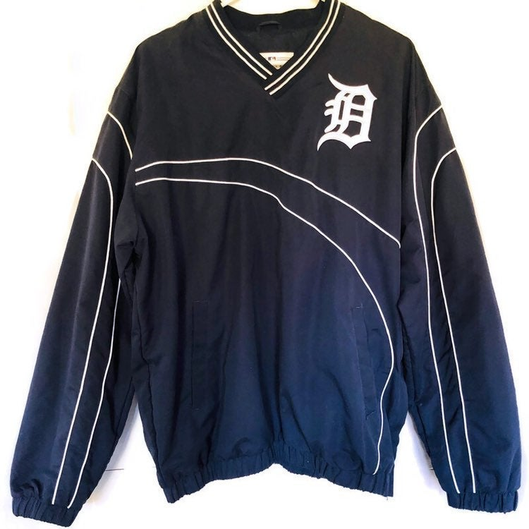 Genuine Merchandise Navy Blue White Detroit Tigers Windbreaker Pullover