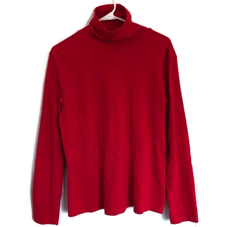 White Stag Womens Red Turtleneck