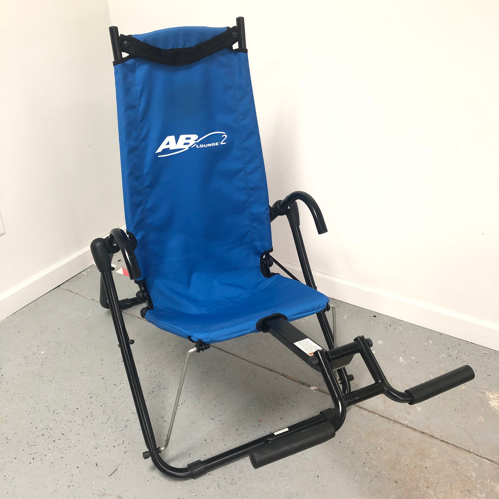 Ab Lounge 2 Core Abdominal Workout Blue Excercise Chair