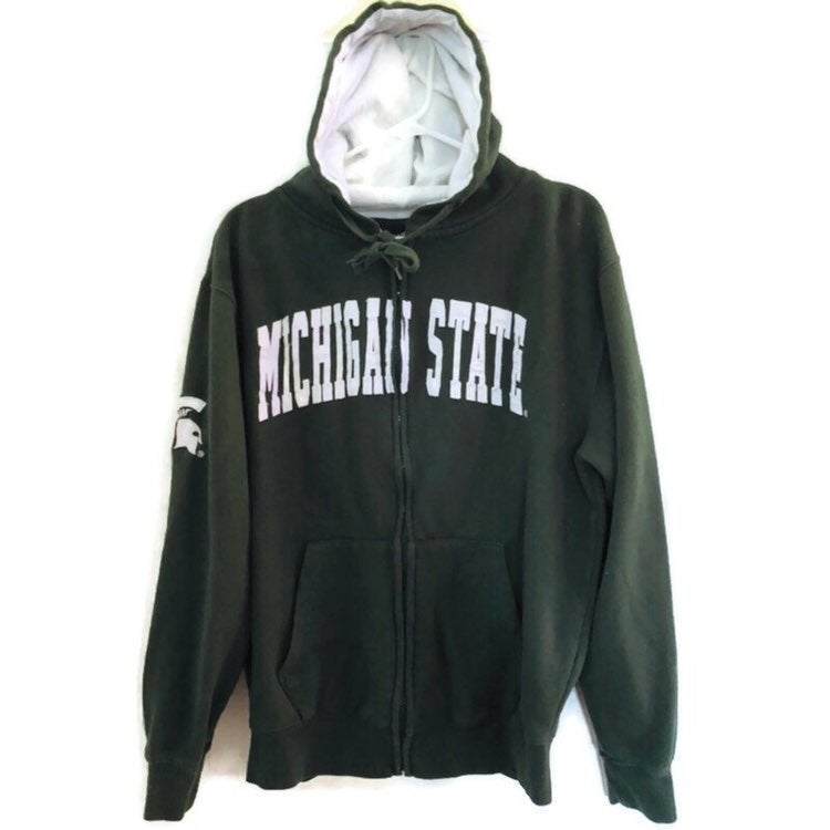 Michigan State Campus Heritage Green White Hoodie Sweatshirt