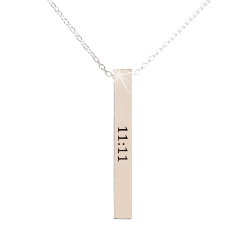 Sterling Silver 11:11 Amulet Necklace