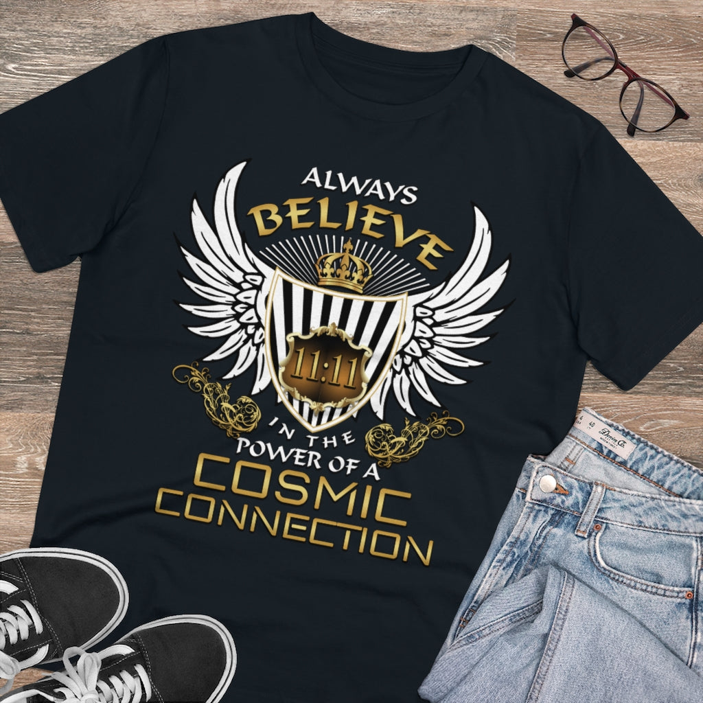 Organic Cotton Men's Tee - Always Believe In The Power of A Cosmic Connection