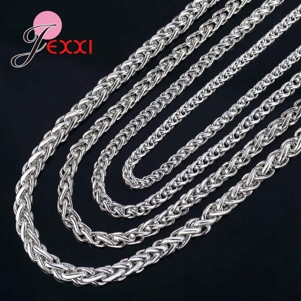 Cheap Price Wholesale Jewlelry Accessory Chains For Sale 925 Sterling Silver Top Quality Necklace Link Chain Free Shipping