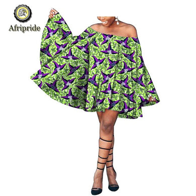 2019 dashiki african summer dresses for women african clothes pure cotton bazin riche ankara print robe africaine S1825058