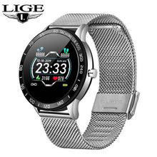 LIGE 2020 New Smart Watch Men Heart Rate Blood Pressure Multifunction Sport Smartwatch Pedometer IP67 Waterproof Fitness Tracker