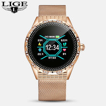 LIGE New Fashion smart watch women men Sport waterproof clock Heart rate sleep monitor For iPhone Call reminder woman smartwatch