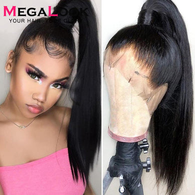 360 Lace Frontal Wigs For Women Straight Lace Front Wig Remy Megalook Peruvian Hair Wig 13x4 13x6 Lace Front Human Hair Wigs