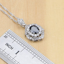 Black CZ White Cubic Zirconia Sterling Jewelry Sets