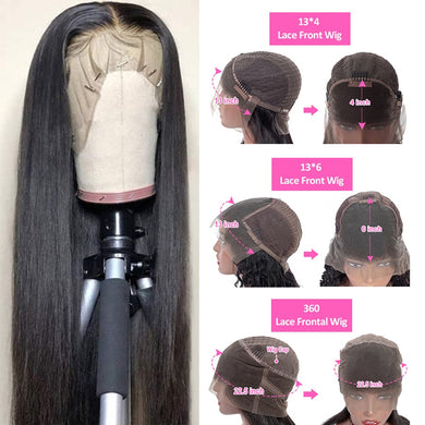 13x4 13x6 360 Lace Front Human Hair Wigs Straight HD Transparent Lace Frontal Wigs Pre Plucked Remy Brazilian Lace Front Wig