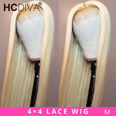 4x4 Lace Closure Wig Brazilian Straight Lace Wig 13x4/13x6 /360 Lace Front Wig 613 Blonde Human Hair Wig Pre-Plucked Remy Hair