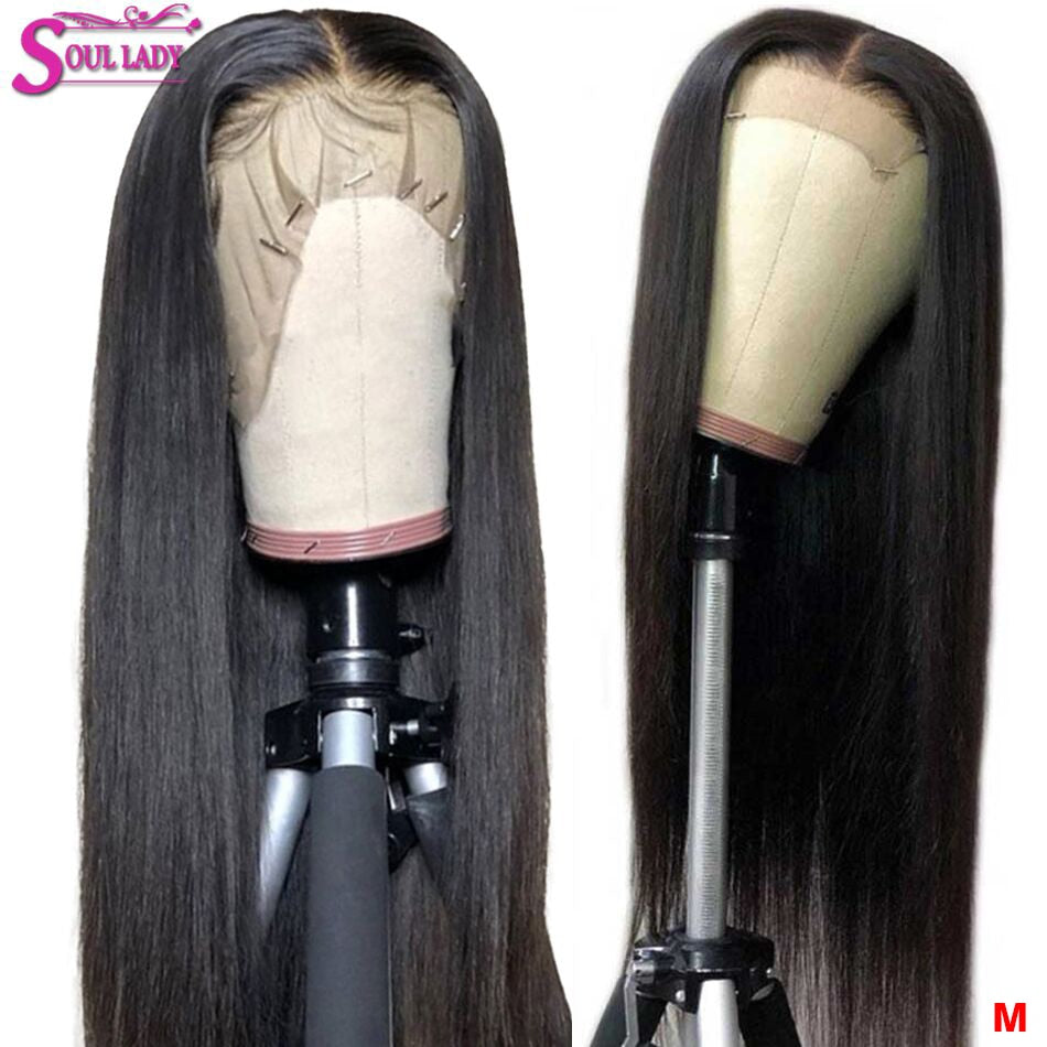 Soul Lady 13x4 13x6 Lace Frontal Wig 360 Full Lace Wig Human Hair Straight Wigs Malaysian Preplucked And Bleached Knots Lace Wig