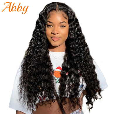 250% Density Deep Wave 13x6 Transparent Lace Front Wigs Malaysia 4x4/13x4 Lace Frontal Human Hair Wigs For Women Preplucked
