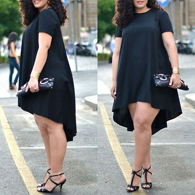 2016 Plus Size Women Summer Casual Black Loose Short Sleeve Chiffon Shirt Top Blouse White Black