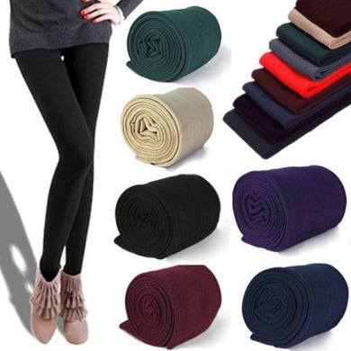 LNRRABC Casual Fall/Winter Multicolor Women Stretch Pants Leggings Thick lined Fleece Skinny Slim Leggings Women Clothing