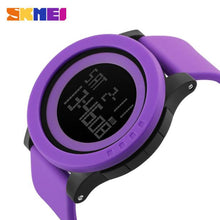 Round Faced Rubber Band Digital Sport Watch