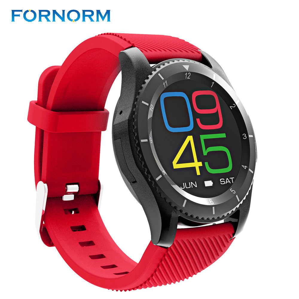 FORNORM Wireless Multi Bluetooth Digital Smart Wrist Watch Support SIM Heart Ratr Monitor Sleep Monitor For Android IOS Phone