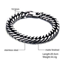 "Vnox Men Bracelet Retro Silver Color Male Jewelry Stainless Steel Link Chain 8"" free Gift Box"