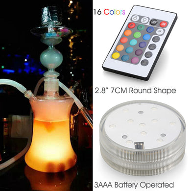 1pcs Safety Waterproof Switch Hookah Shisha Accessories Battery Operated Led Light with Remote Controlled