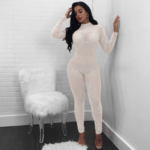 Sexy See Through Rhinestone Jumpsuit