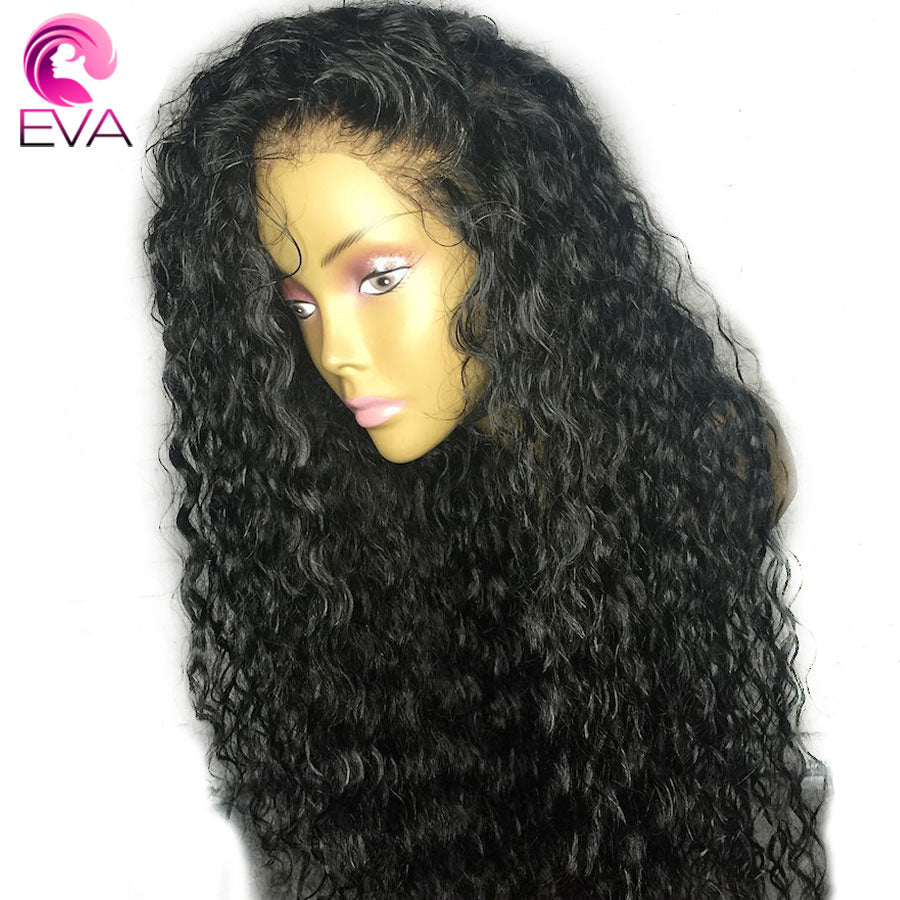 Eva Hair Curly Lace Front Human Hair Wigs With Baby Hair