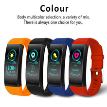 QW18 Smart Bracelet Color Screen Heart Rate Monitor Sporty Smart Wristband Motion Tracking Waterproof Sleep Monitor for Men Women Fashion Wristband Black Red Blue Orange Color to Choose