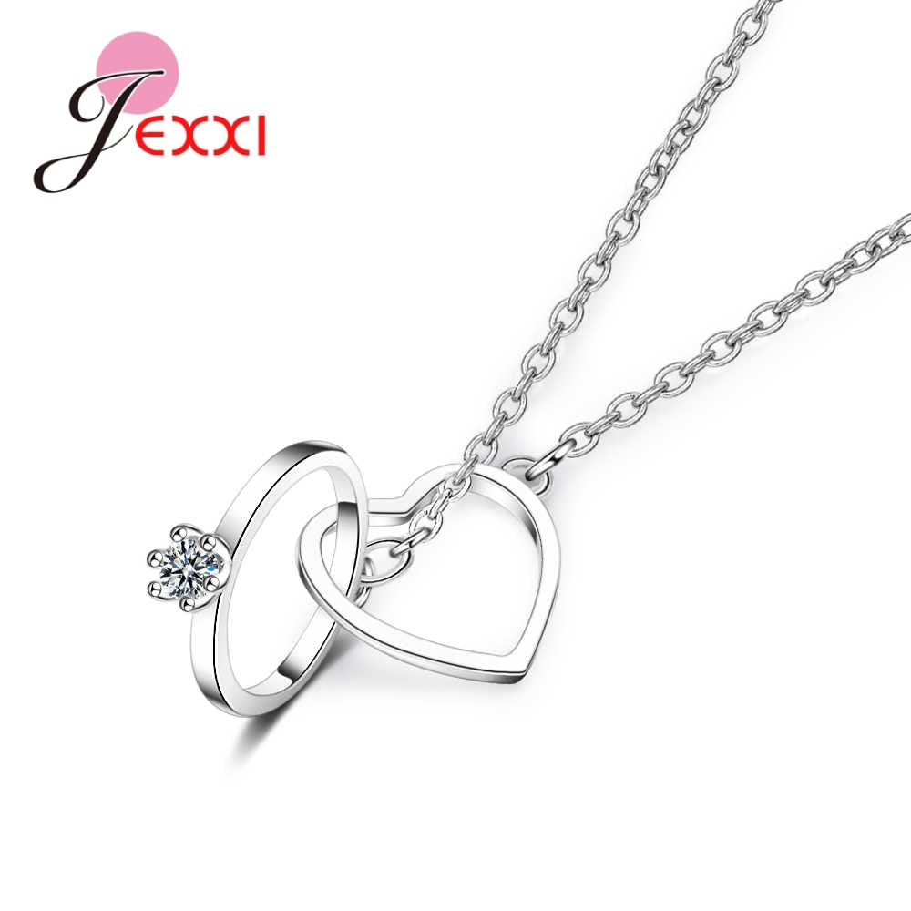 JEXXI lOVE Eternal Genuine 925 Sterling Silver Heart