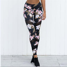 2018 Sportings Suits Leggings For Women Floral Print High Elastic Fitness Two Pieces Top+Leggings Women Workout Leggings Suits