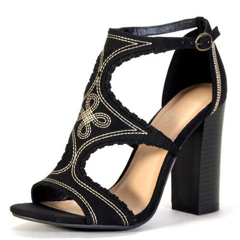 Black Native Open Toe Sandal