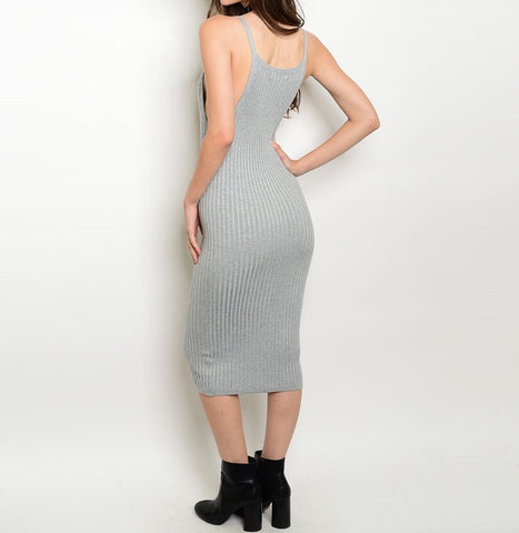Dolphin Grey Bodycon Dress