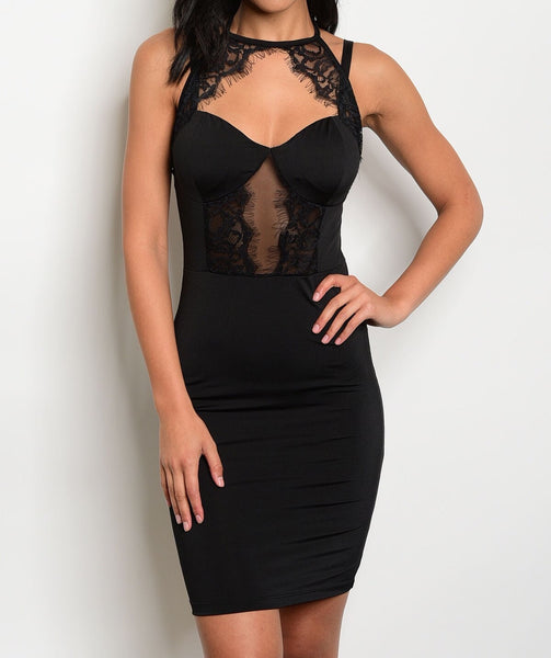 Vixen Beauty Black Lace Dress