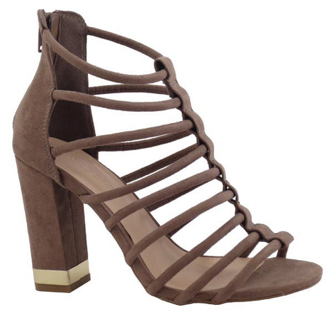 Brown Lu Pump Open Toe Sandals