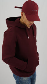 Vanity Baseball Cap Bordeaux Red