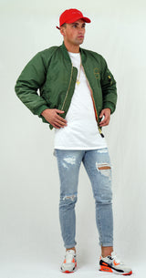 Green Bomber Outfit