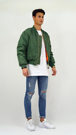 Vanity Bomber Jacket Green