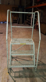 3 Step Rolling Safety Ladder (16213)