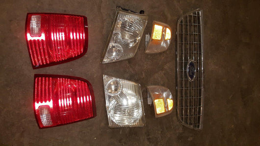 2002, 2003, 2004 & 2005 Ford Explorer Headlights, Taillights & Grill