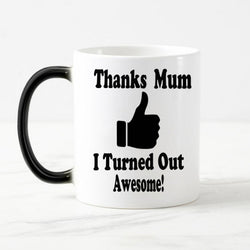 Thanks Mum Color Changing Coffee and Tea Mug, [products_type, D. P. P. Discipline Perseverance Patience  - K3 Imports