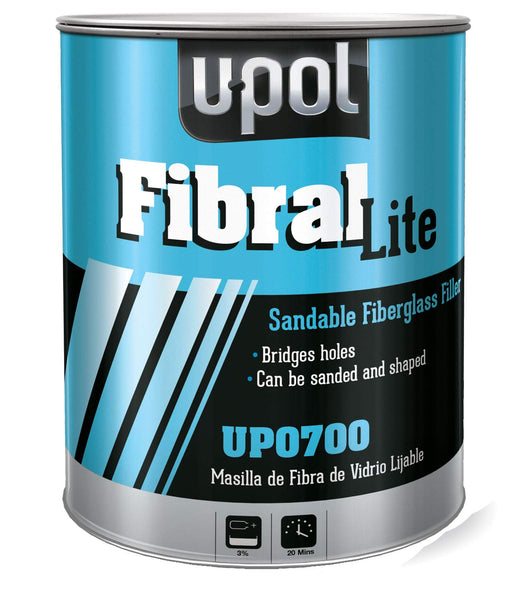 U-POL Fibral Sandable FIBERGLASS Repair Paste, UP0700 - Jerzyautopaint.com