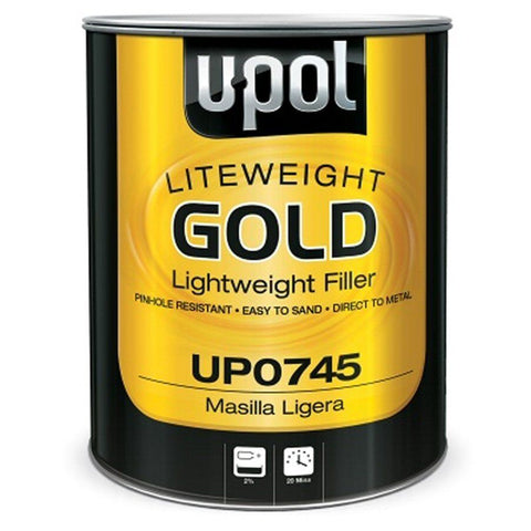 U-Pol 0745 FLYWEIGHT GOLD Lightweight Body Filler - 3L -