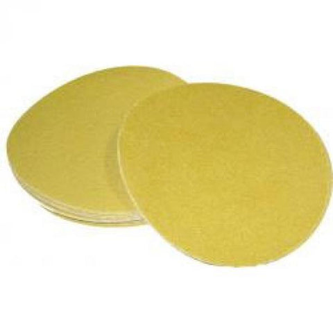 "Finish-Rite,  6"" Gold PSA Sanding Disc 80 Grit, 100 pcs -"