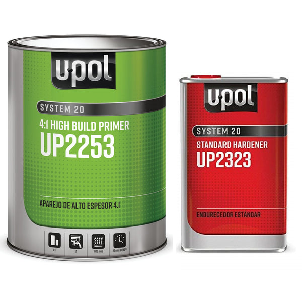 U-Pol 2253 4:1 2K High Build Primer  W/ Standard Hardener -