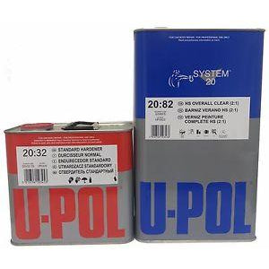 U-Pol 2K HS OVERALL CLEARCOAT 5L, UP2822, 5 Liter with Hardener
