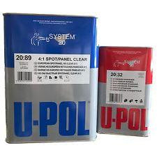 U-POL UP2892 SPOT/PANEL CLEAR COAT WITH QT HARDENER -