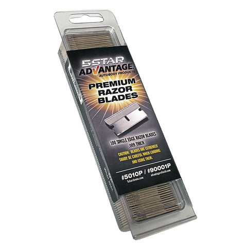 "5 Star Xtreme Single Edge Razor Blades .009"" Thick, 5010P - Jerzyautopaint.com"