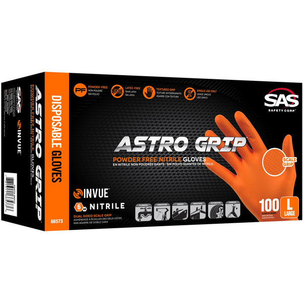SAS Astro-Grip Nitrile Disposable Glove (Powder-Free) -