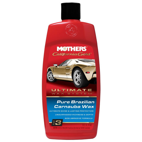 Mothers 05750 California Gold Pure Brazilian Carnauba Liquid Wax (Ultimate Wax System/Step 3) - 16 oz -
