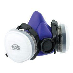 SAS Bandit Disposable Dual Cartridge OV / N95 Respirator, Paint Mask -