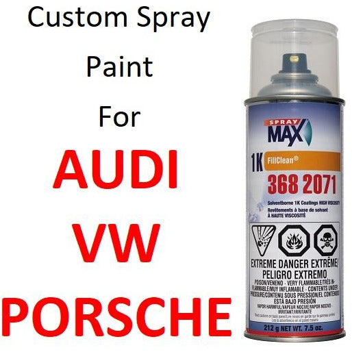 Custom Automotive Touch Up Spray Paint For VOLKSWAGEN & AUDI & PORSCHE -