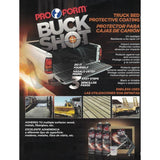 BUCK SHOT GM WHITE TRUCK BED LINER w/ SPRAY GUN AND WHITE BASECOAT PAINT -