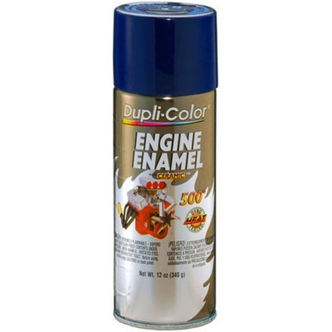 Dupli-Color DE1606 Ceramic Ford Dark Blue Engine Paint - 12 oz. -